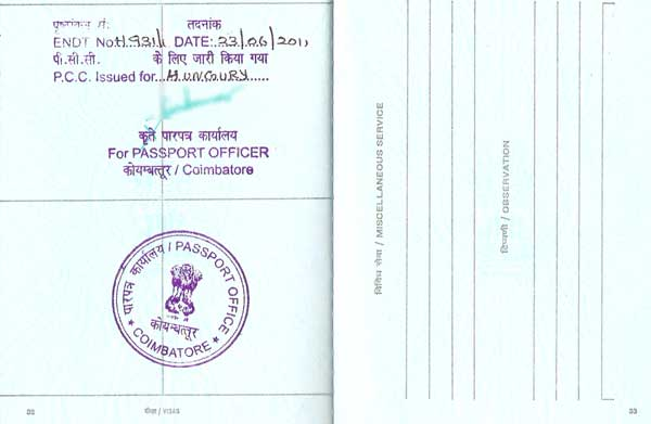 Police clearance certificate india sample