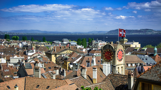 Swiss city of Neuchatel