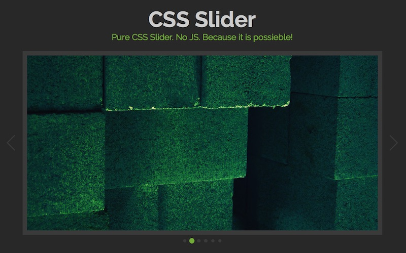 20 Cool Pure CSS sliders without jQuery/Javascript