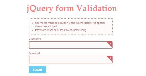 jQuery Form Validation