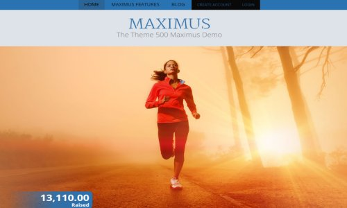 500 Maximus – A Powerful WordPress Crowdfunding Theme