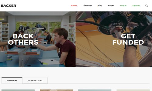 Backer – A Premium Crowdfunding WordPress Theme –