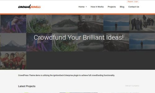 CrowdPress WordPress Crowdfunding Theme
