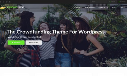 Fundingpress - Crowdfunding WordPress Theme