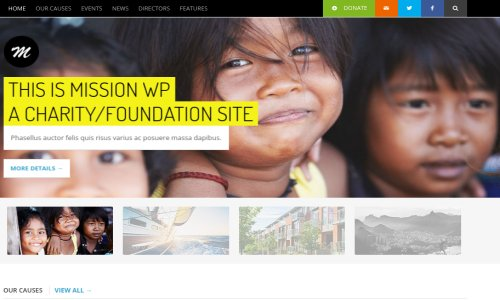Mission – WordPress Theme For Fundraising Sites