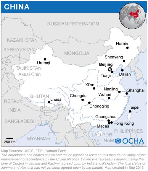 Map of China (hong kong)