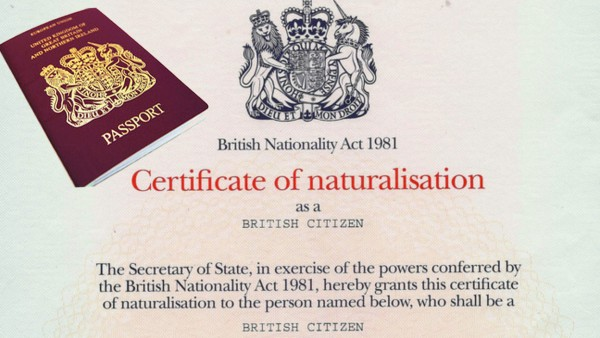 Certificate of British Citizenship