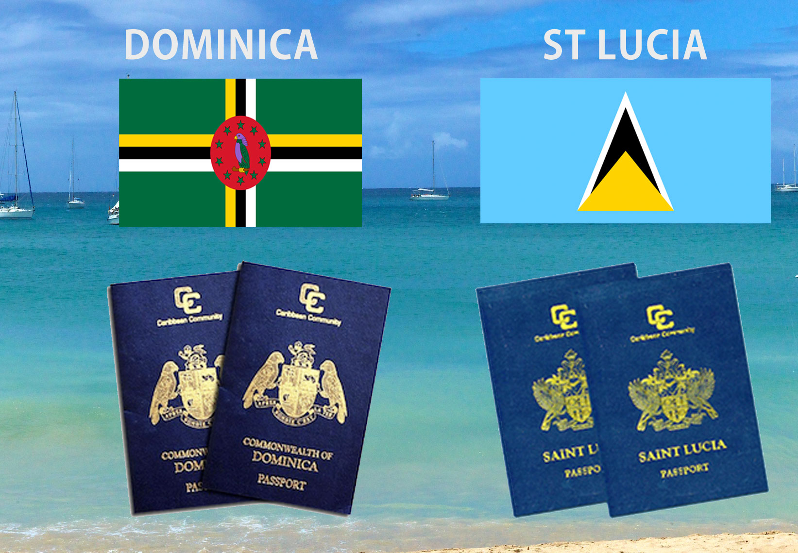 Dominica and St Lucia passport