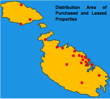 Malta properties popular locations