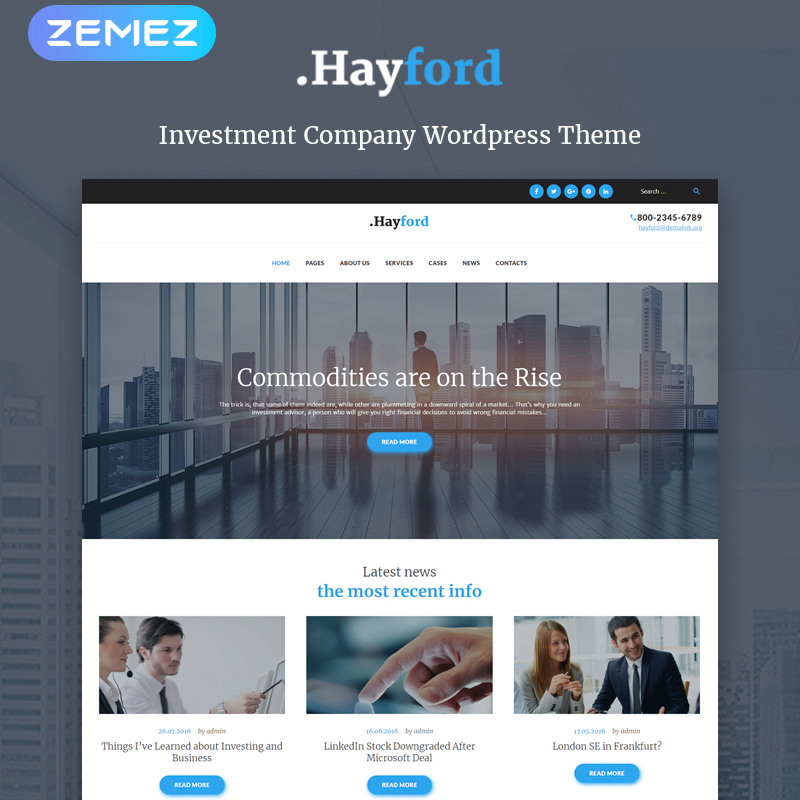 Hayford - Investment Consulting Services Responsive WordPress Theme