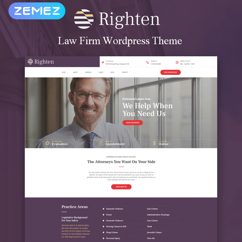 Righten - Advisory Elementor WordPress Theme